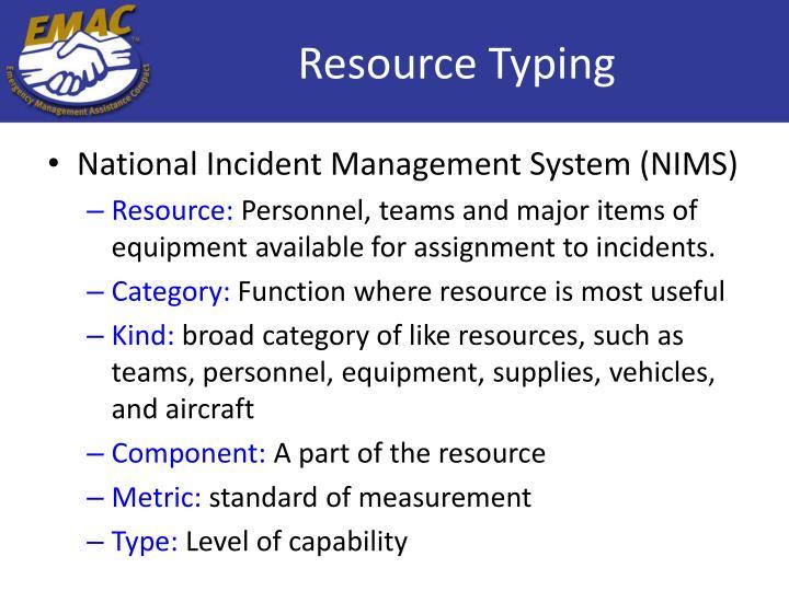 Resource Typing