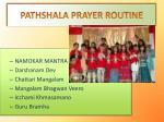 pathshala prayer routine