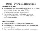 other revenue observations