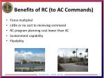 benefits of rc to ac commands