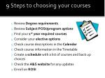 9 steps to choosing your courses