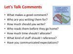 let s talk comments