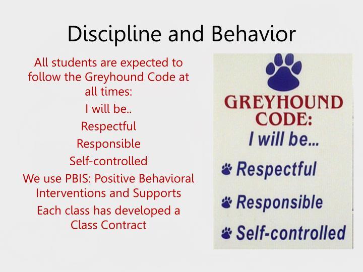Discipline and behavior