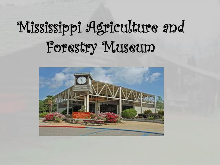 Mississippi Agriculture and