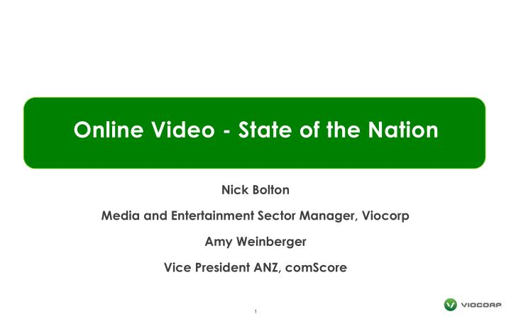 online video state of the nation n.