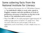 some sobering facts from the national institute for literacy