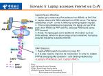 scenario 5 laptop accesses internet via c w