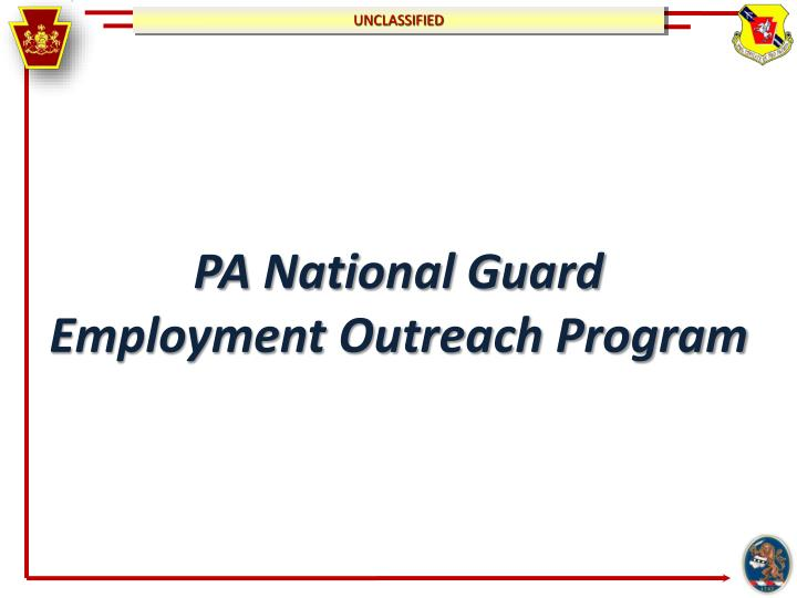 pa national guard employment outreach program n.