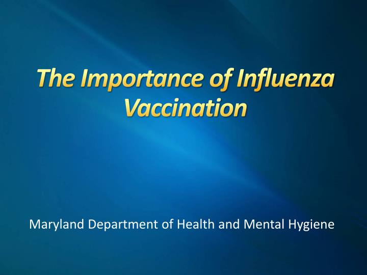 the importance of influenza vaccination n.