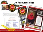 on resources page