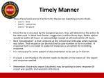 timely manner