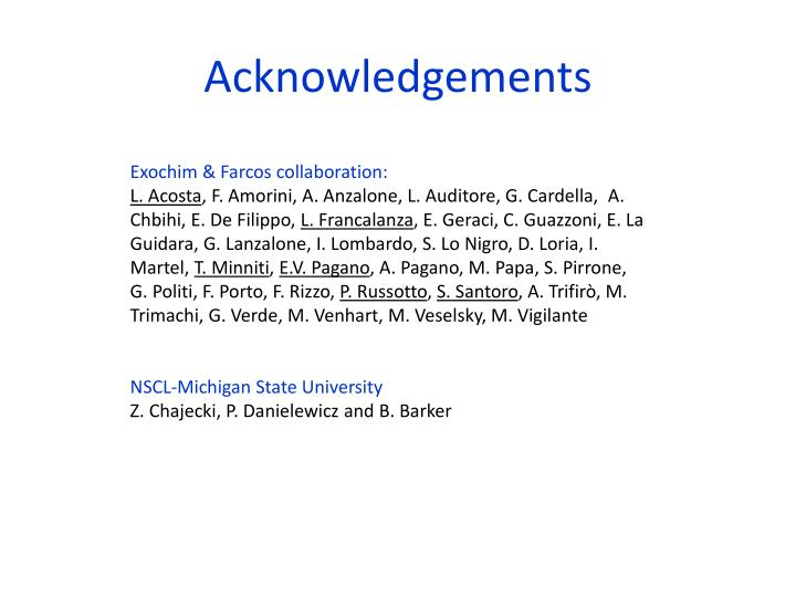 acknowledgements n.