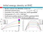 initial energy density at rhic