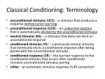 classical conditioning terminology1