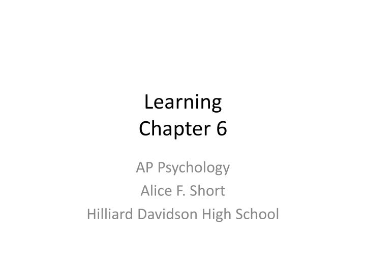 learning chapter 6 n.