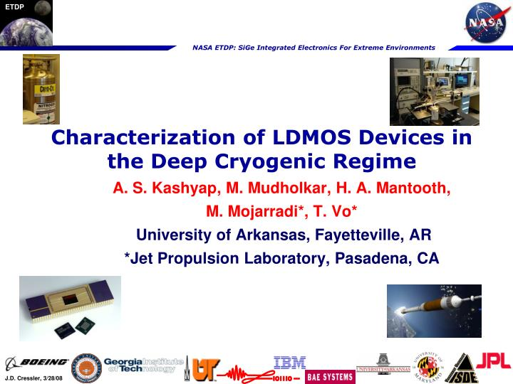 characterization of ldmos devices in the deep cryogenic regime n.