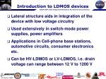 introduction to ldmos devices