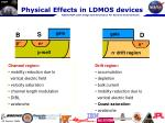 physical effects in ldmos devices