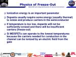 physics of freeze out