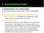 c standardising bodies1