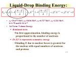 liquid drop binding energy