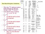 mass based energetics calculations