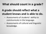 what should count in a grade