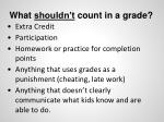 what should n t count in a grade