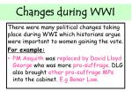 changes during wwi1