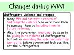 changes during wwi2
