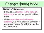 changes during wwi3