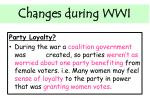 changes during wwi4