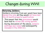 changes during wwi5