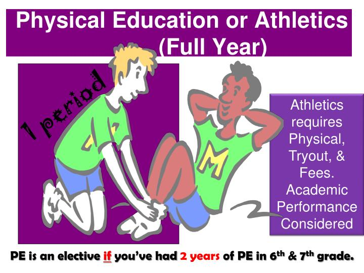 Physical Education or Athletics
