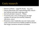 costs research
