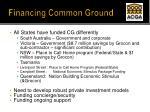 financing common ground