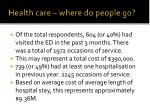 health care where do people go
