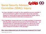 social security advisory committee ssac inquiry