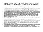 debates about gender and work