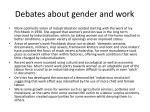 debates about gender and work1