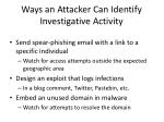 ways an attacker can identify investigative activity