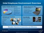 intel employee environment overview