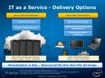 it as a service delivery options