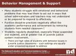 behavior management support