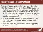 family engagement matters