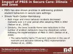 impact of pbis in secure care illinois and iowa