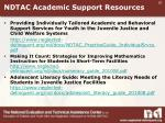 ndtac academic support resources