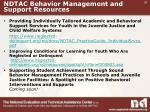 ndtac behavior management and support resources