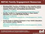 ndtac family engagement resources
