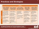 practices and strategies